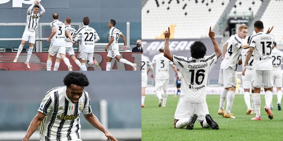 Cuadrado trascina la Juve: 3-2 all'Inter, resta vivo il sogno Champions