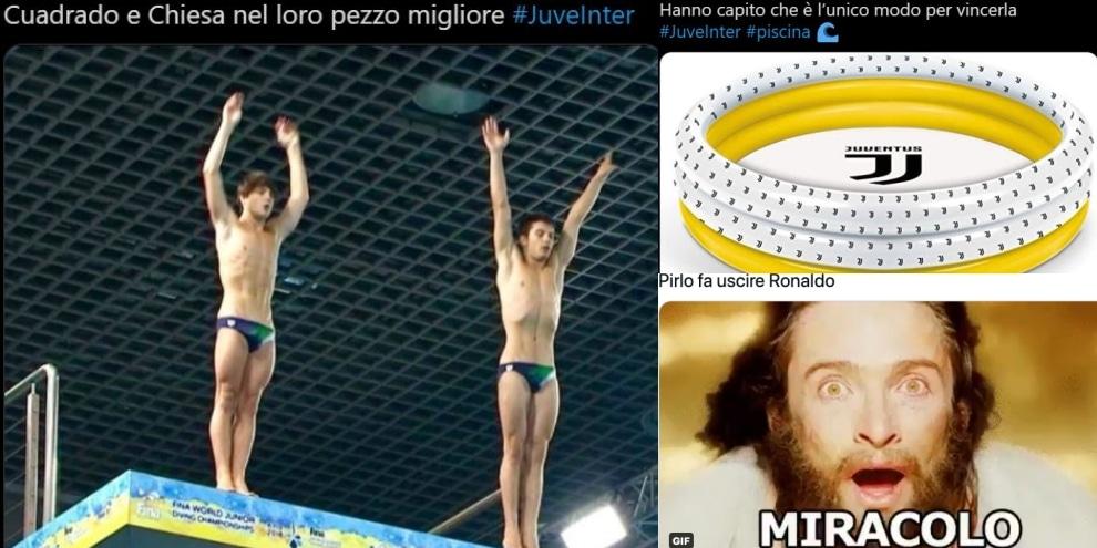 "Juve-Inter: ironia social tra ""pasillo"" e gare di tuffi..."