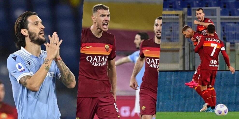 La Roma fa festa nel derby: Lazio battuta 2-0