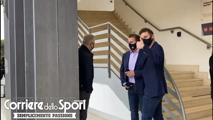Roma, Dan e Ryan Friedkin al Foro Italico per la finale Djokovic-Nadal