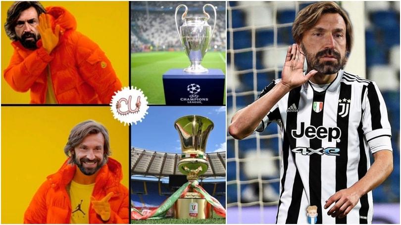 Pirlo vince la Coppa Italia: i social si scatenano