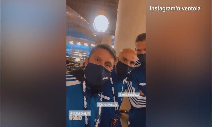 Ventola con Materazzi, Zanetti e Cambiasso: dal Triplete al Papeete