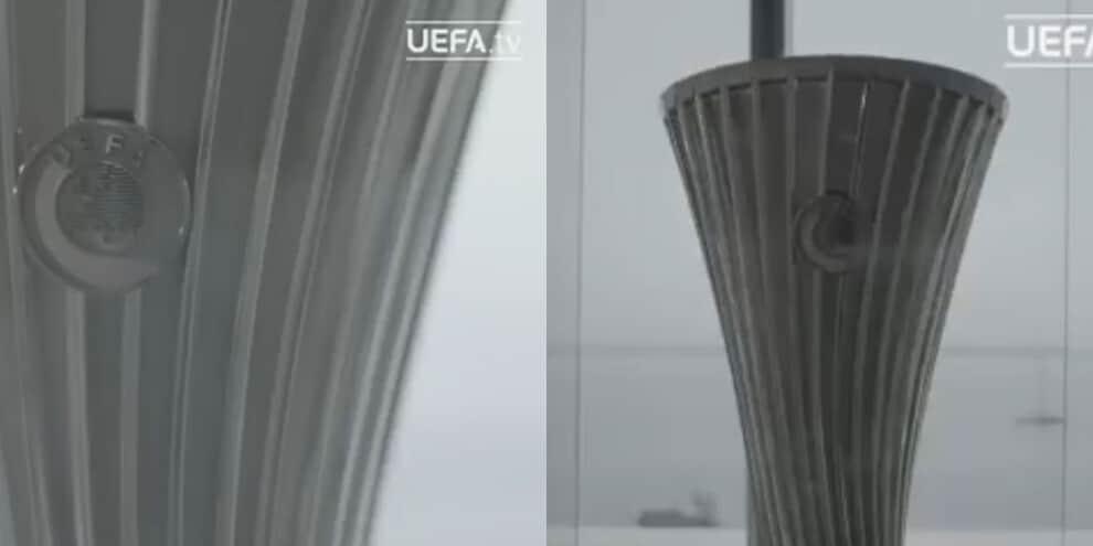 Conference League, l'Uefa svela il trofeo