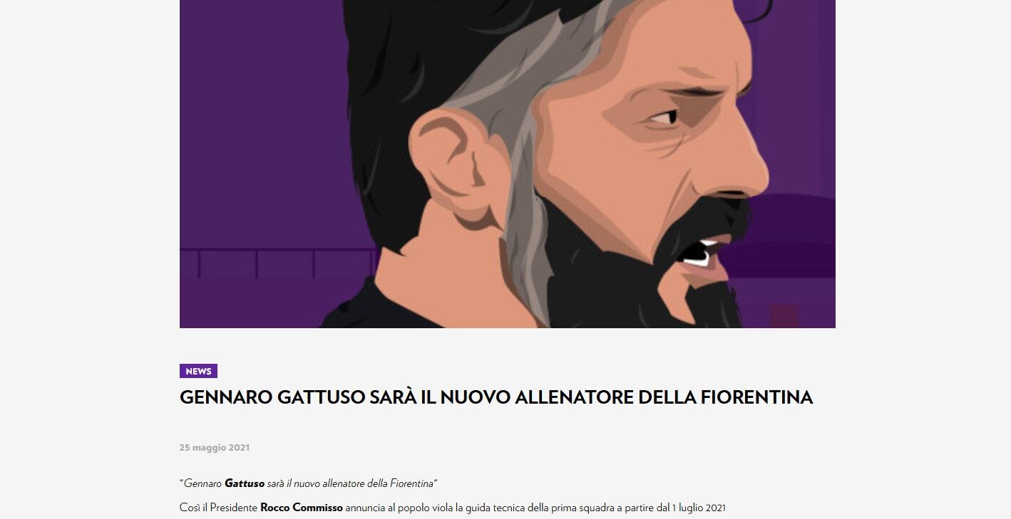 Ufficiale: Gattuso nuovo allenatore della Fiorentina