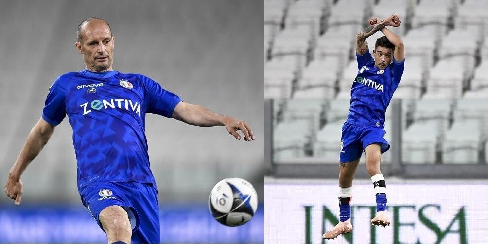 Allegri, che show in campo. E Moreno imita Cristiano Ronaldo