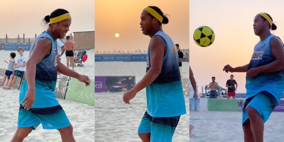 Ronaldinho, che numeri a beach soccer!