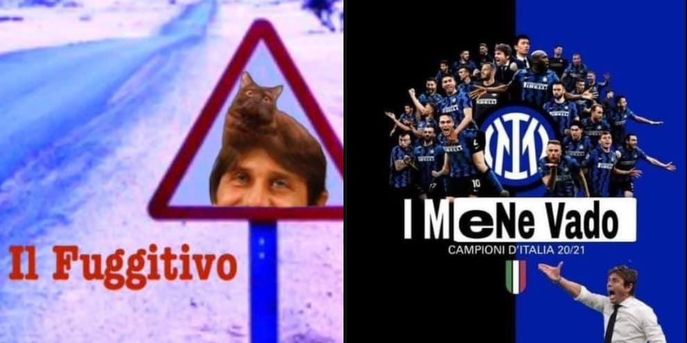 Conte via dall'Inter: ironie e reazioni social
