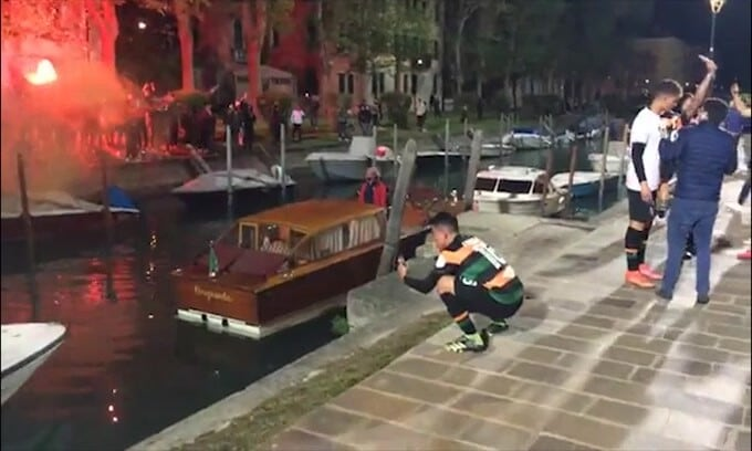 Venezia in Serie A, festa anche col sindaco