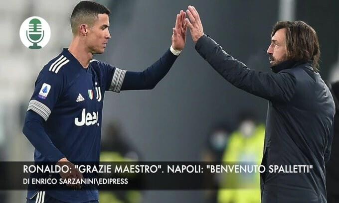 """Ronaldo: """"Grazie maestro"""". Napoli: """"Benvenuto Spalletti"""""""