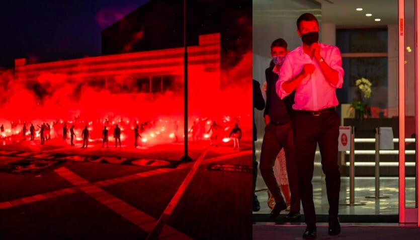 Milan, torciata dei tifosi per la Champions: l'omaggio alla società