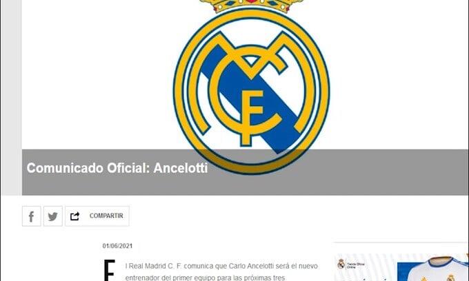 Real Madrid, è ufficiale il ritorno di Ancelotti