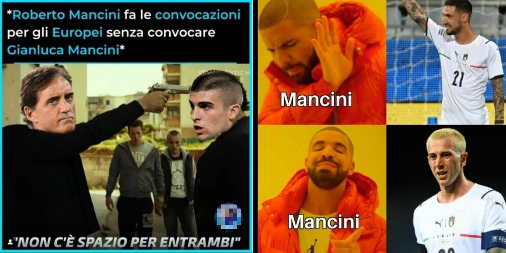 Euro 2020, social scatenati per le scelte di Mancini