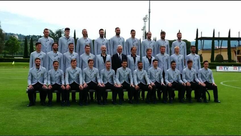 Foto ufficiale Euro 2020 per gli Azzurri