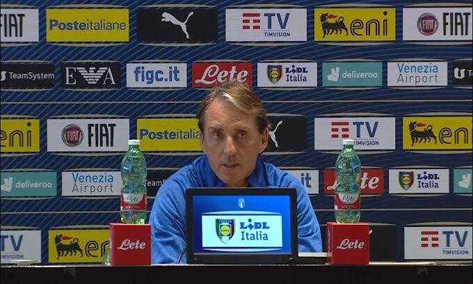 """Mancini: """"Raspadori? Spero faccia come Paolo Rossi"""""""