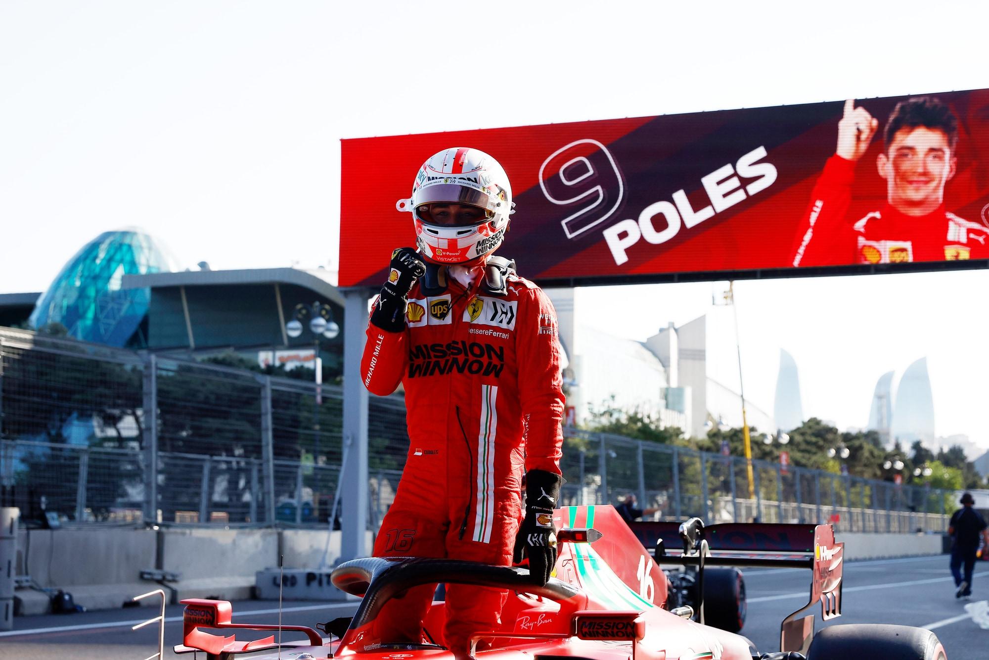 """153935045 a3c5bc5c cc26 4d83 9000 54dd35f4d739 - Ferrari, Leclerc in pole a Baku: """"Pensavo di aver fatto un giro schifoso"""""""