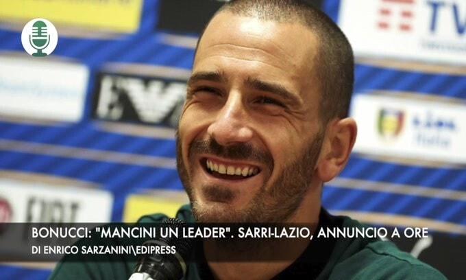 """Bonucci: """"Mancini un leader"""". Sarri-Lazio, annuncio a ore"""