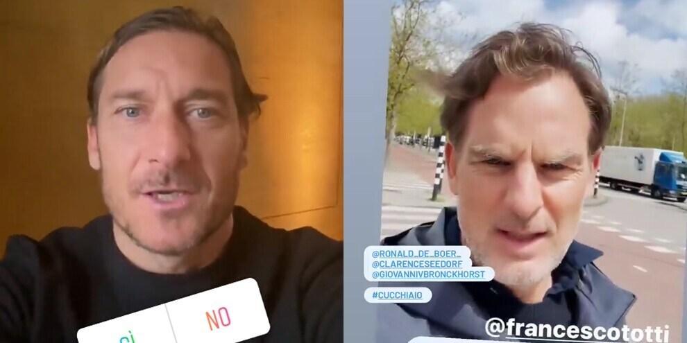 De Boer risponde a Totti su Instagram