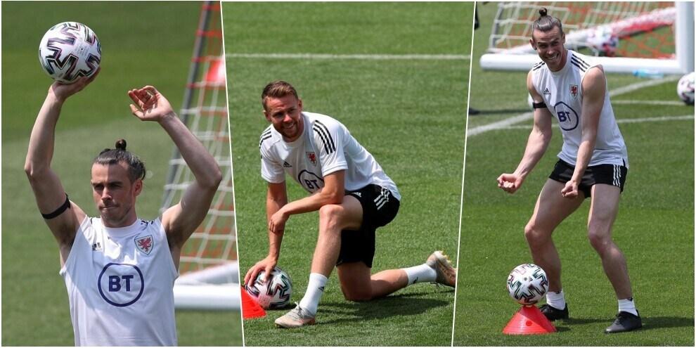 Galles in campo: capitan Bale scherza, Ramsey si scalda per l'Italia