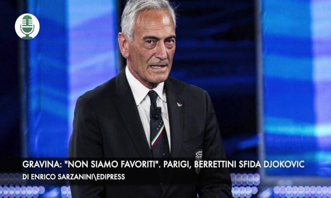 """Gravina: """"Non siamo favoriti"""". Paigi, Berrettini sfida Djokovic"""