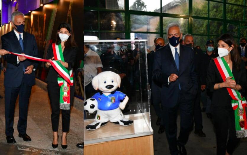 Italia, inaugurata 'Casa Azzurri' con Gravina e la Raggi