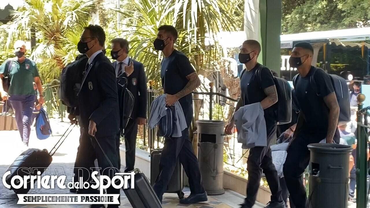 Euro 2020, la Nazionale è arrivata a Roma: Gravina rincuora Pellegrini