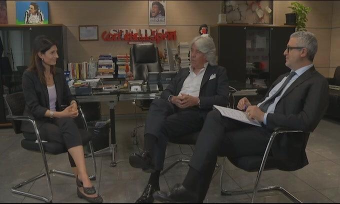 """Virginia Raggi su Mourinho e Sarri: """"La risposta alla ripartenza di Roma"""""""