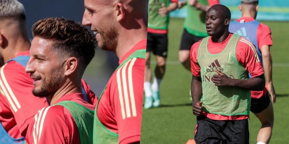 Belgio, Mertens e Lukaku si preparano all'esordio agli Europei