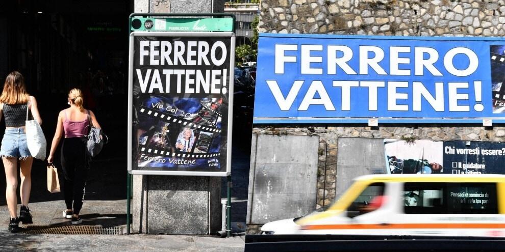 """""""Ferrero vattene"""": ecco i manifesti dei tifosi della Sampdoria"""