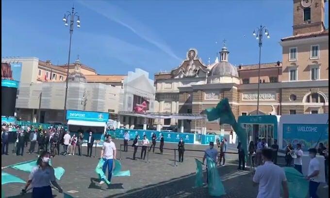 Euro 2020: show nella fan zone di Roma
