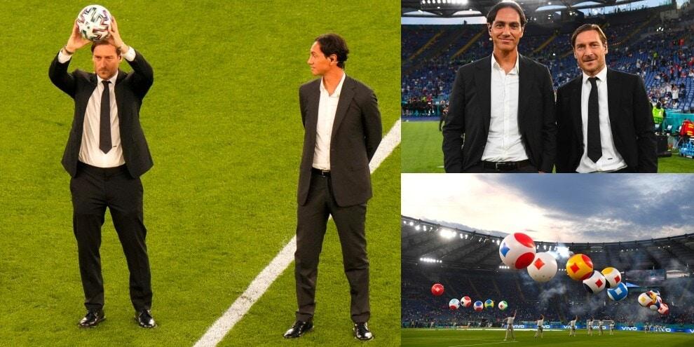 Totti e Nesta danno il via agli Europei: show all'Olimpico
