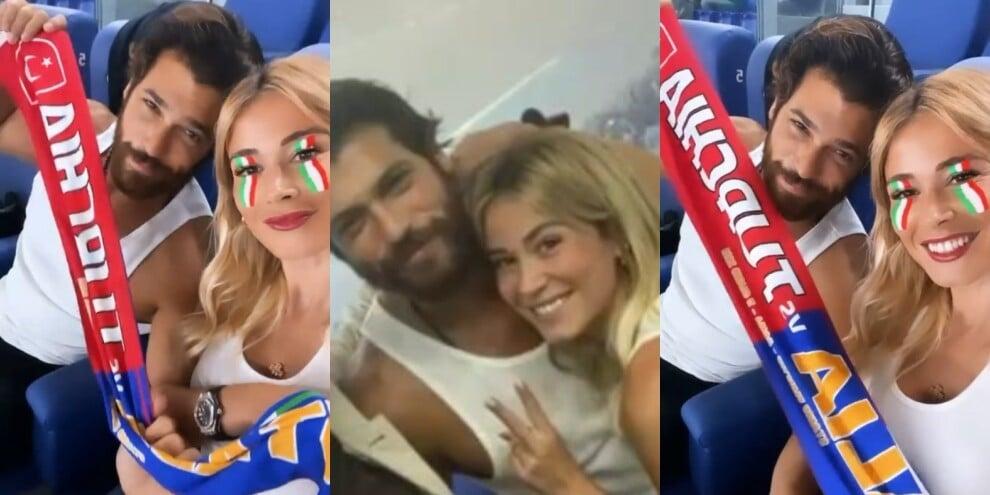 Diletta Leotta e Can Yaman all'Olimpico per Turchia-Italia