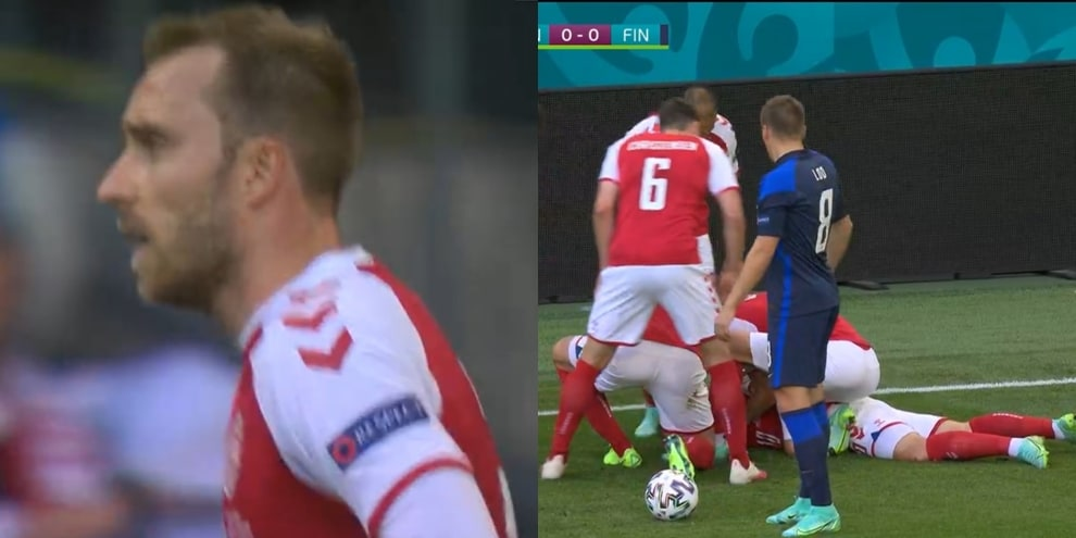 Eriksen, malore in campo durante Danimarca-Finlandia