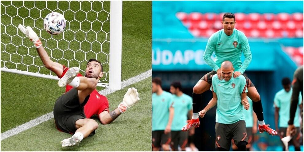 Portogallo, Rui Patricio si scalda le mani. Ronaldo e Pepe leader