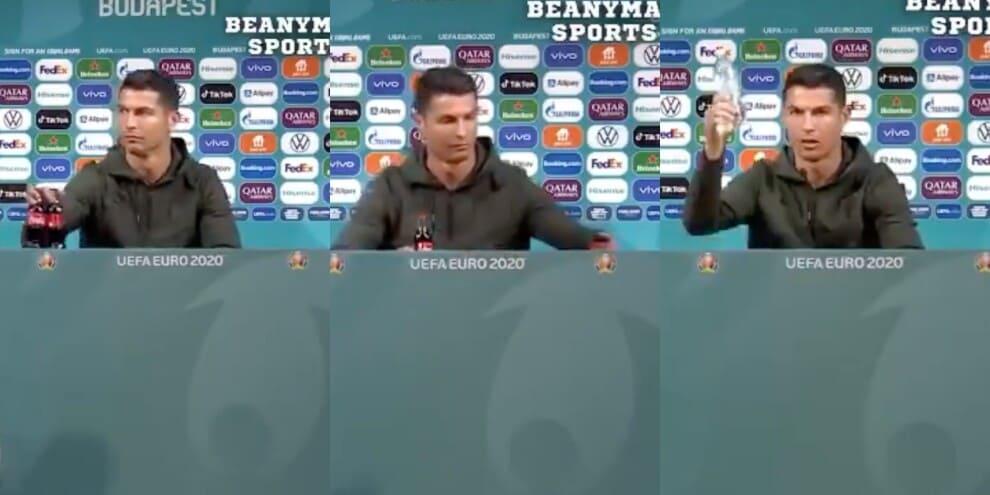 """Cristiano Ronaldo e la bibita """"proibita"""": il video che spopola sul web"""