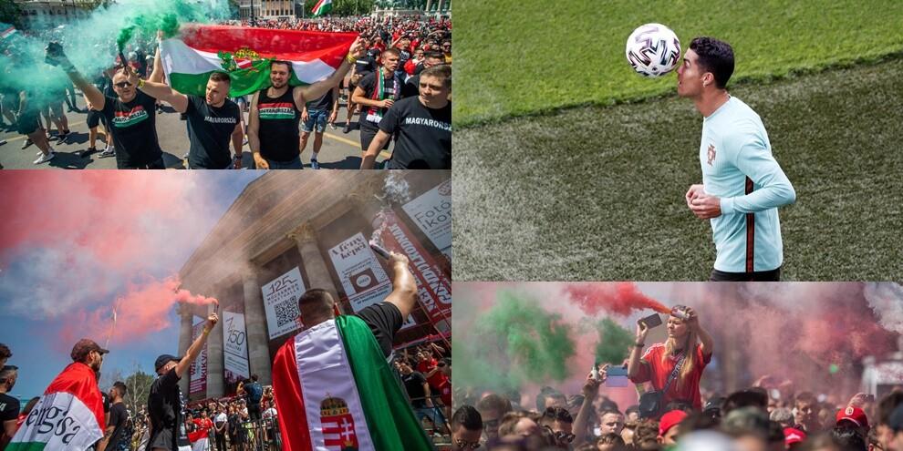 Cristiano Ronaldo sbarca in Ungheria: che bolgia alla Puskas Arena
