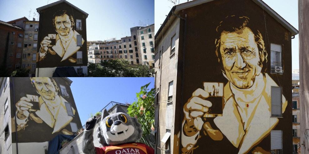 Roma, inaugurato il murale per i 101 anni di Alberto Sordi