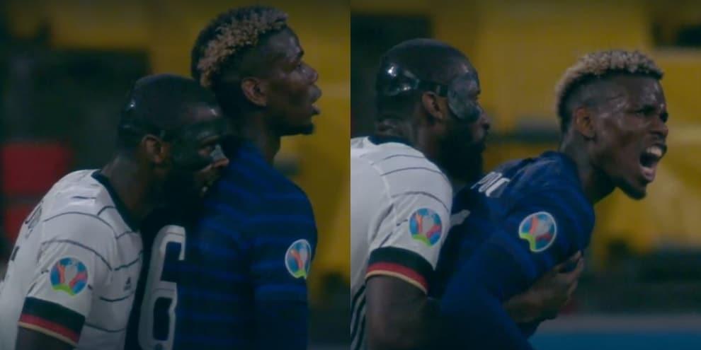 Rudiger morde Pogba durante Francia-Germania: le immagini