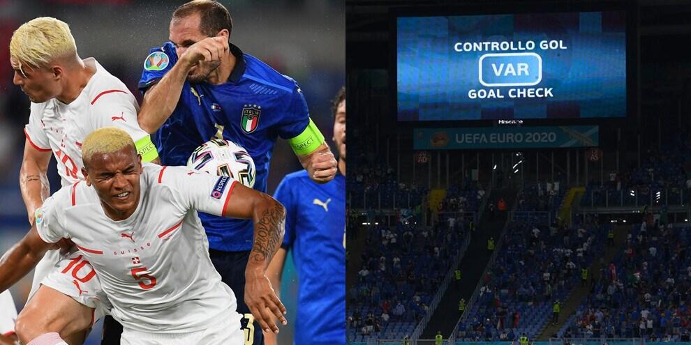 Europei, Italia-Svizzera: il Var annulla la rete di Chiellini!