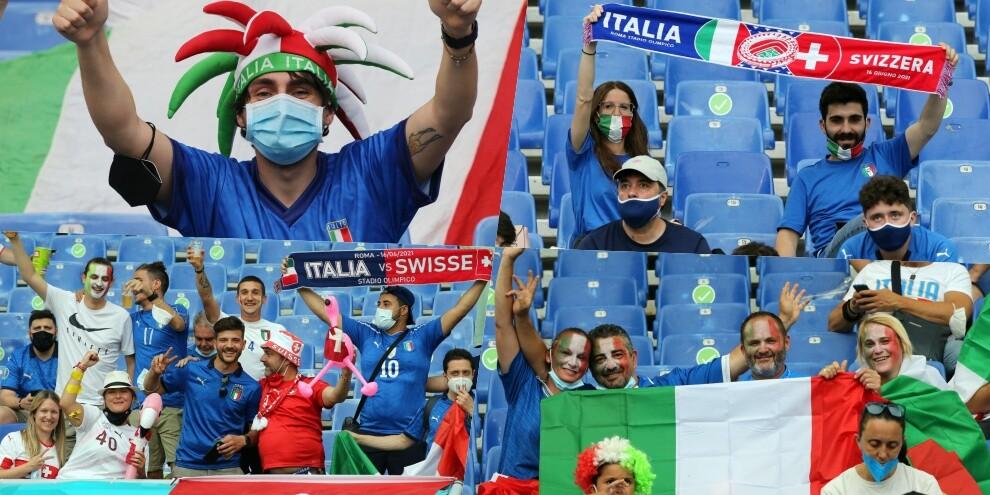 Italia-Svizzera, che entusiasmo dei tifosi sugli spalti!