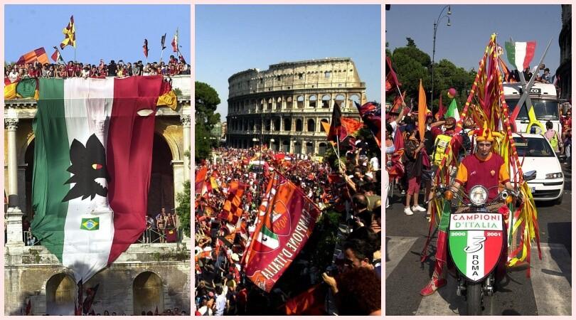 Roma, ventennale scudetto: ecco il delirio nella capitale per il tricolore