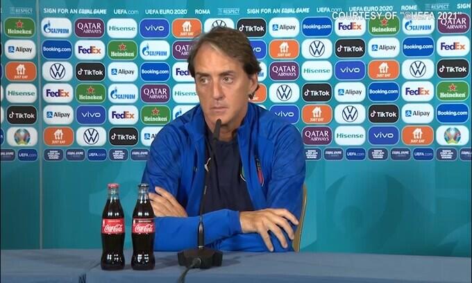 """Mancini: """"Noi bella squadra? Siamo bei ragazzi.."""""""