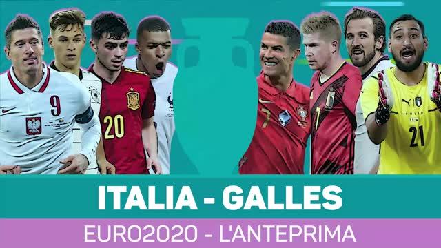 Euro 2020: Italia-Galles, l'anteprima