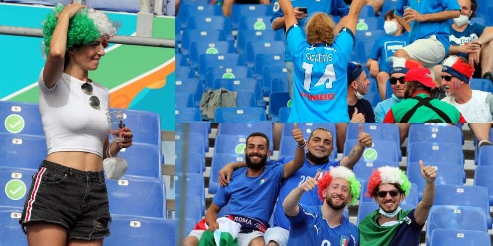 Italia-Galles, show dei tifosi sugli spalti. E spunta Mertens...