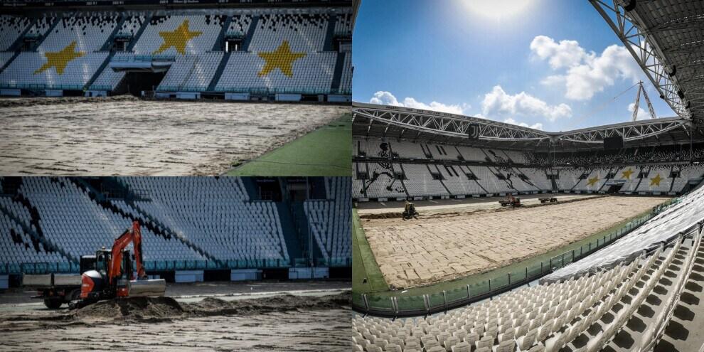 La Juve si rifà il trucco. Nuovo manto erboso allo Stadium