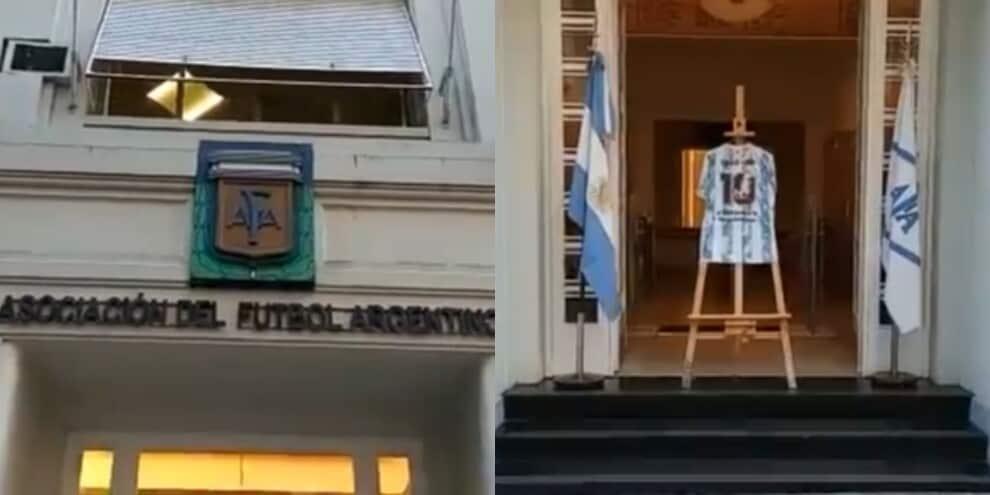 L'omaggio da brividi dell'Argentina per Maradona
