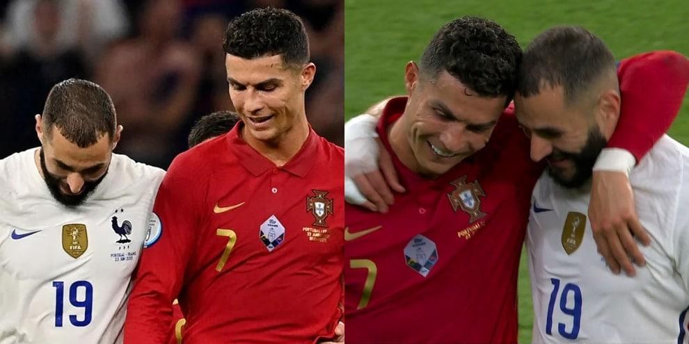 Ronaldo e Benzema nemici amici: il siparietto in campo agli Europei