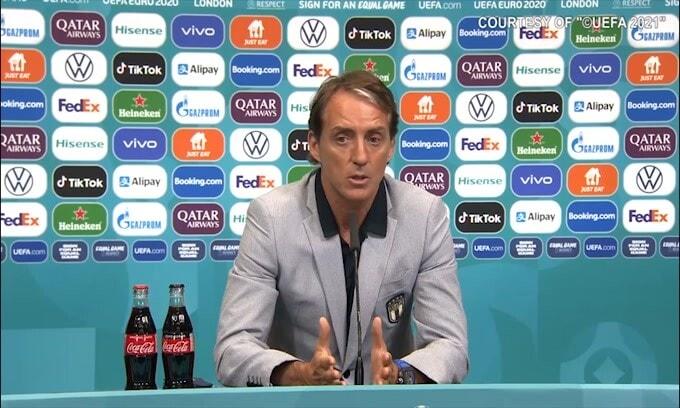 """Mancini: """"Inginocchiarsi? Sono per la libertà"""""""