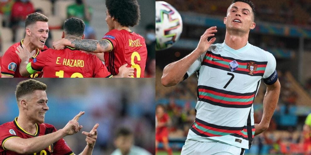 I fratelli Hazard trascinano il Belgio. Cristiano Ronaldo ko