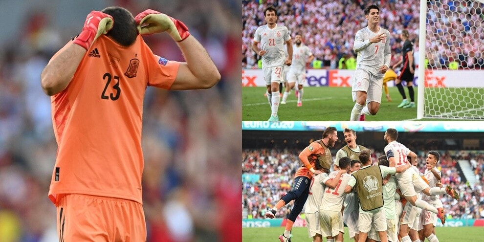 Unai Simon shock, Morata porta la Spagna ai quarti degli Europei