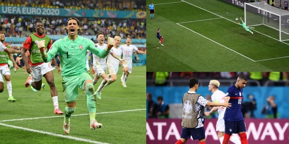 Svizzera ai quarti, Francia fuori ai rigori: Mbappé, che errore!